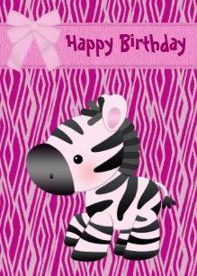 Carte Anniversaire Zebre.Cartes Filles Zebre D Anniversaire Zazzle Fr