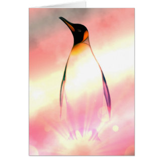 Carte d'anniversaire superbe de pingouin