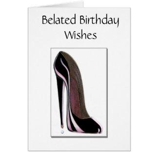 Carte d'anniversaire tardive