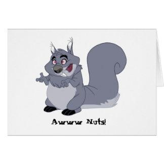 Carte d'anniversaire tardive de gros écureuil