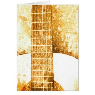Carte d'anniversaire vintage de guitare