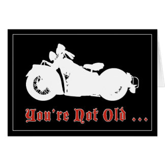 Carte d'anniversaire vintage de moto