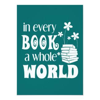 Carte Dans chaque livre un monde entier
