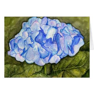 Carte d'aquarelle d'hortensia