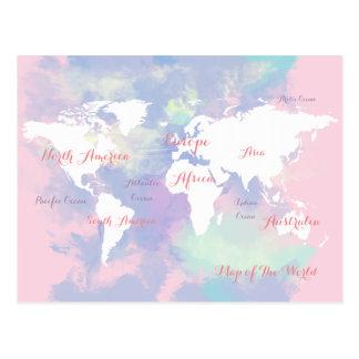 carte d'aquarelle du monde