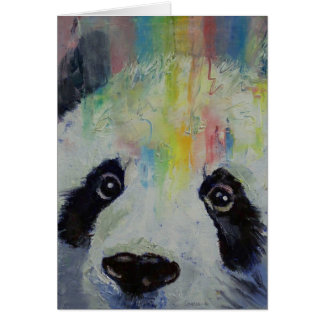 Carte d'arc-en-ciel de panda