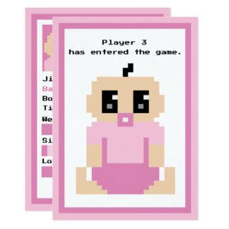 Carte d'arrivée entrée de bébé de jeu du joueur 3