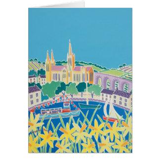 Carte d'art : Ciel bleu Truro par Joanne courte