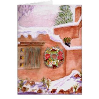 Carte d'art d'Adobe de saison d'hiver