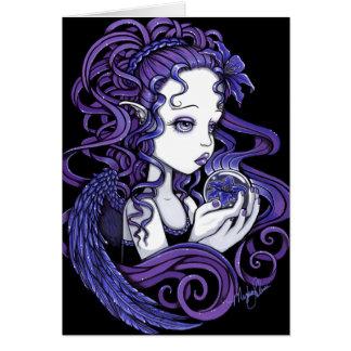 Carte d'art d'ange de boule de cristal de