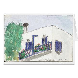 """Carte d'art d'aquarelle """"près de Laki de carré"""""""