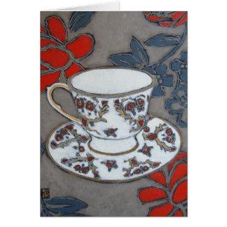 """Carte d'art de """"porcelaine tendre"""""""
