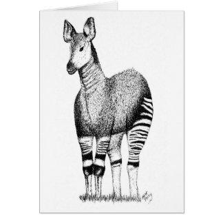 Carte d'art d'okapi