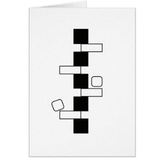 "Carte d'art moderne de ""équilibre"" (5"" x 7"")"