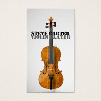 Carte d'artiste de musique de joueur de violon