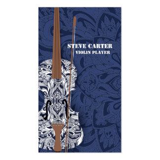 Carte d'artiste de musique de joueur de violon carte de visite standard
