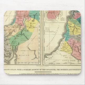 Carte d'atlas de Canaan - de l'Israël Tapis De Souris
