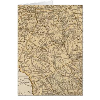 Carte d'atlas de la Caroline du Sud