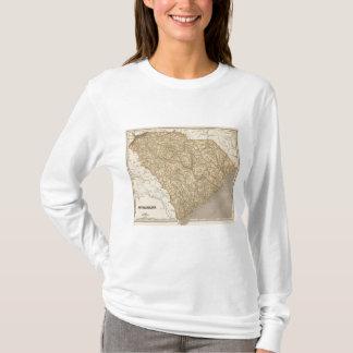 Carte d'atlas de la Caroline du Sud T-shirt