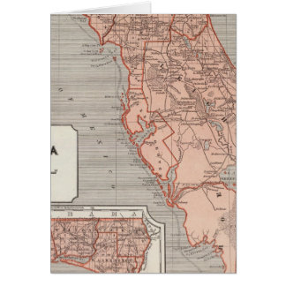 Carte d'atlas de la Floride