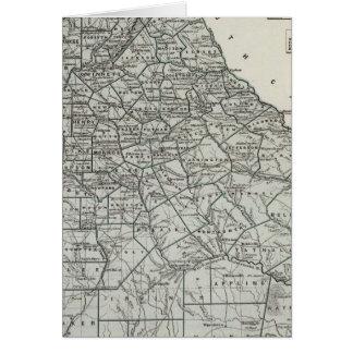 Carte d'atlas de la Géorgie