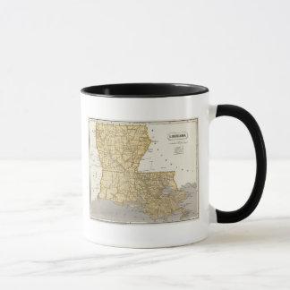 Carte d'atlas de la Louisiane Mug