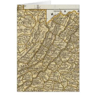 Carte d'atlas de la Virginie