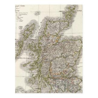 Carte d'atlas de l'Ecosse