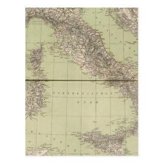 Carte d'atlas de l'Italie
