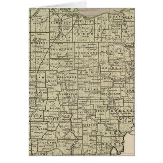 Carte d'atlas de l'Ohio