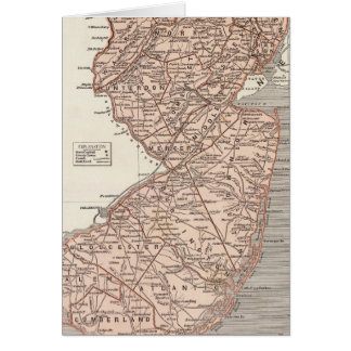 Carte d'atlas de New Jersey