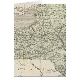 Carte d'atlas de New York