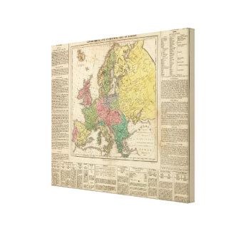 Carte d'atlas de religion de l'Europe Toiles