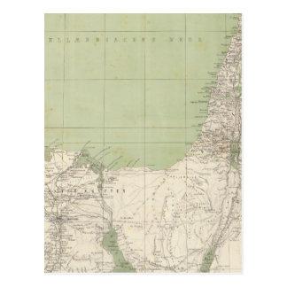 Carte d'atlas de Sinai, Egypte, Syrie