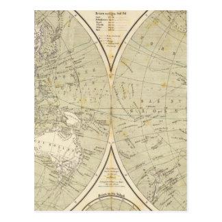 Carte d'atlas d'hémisphère