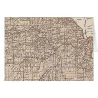 Carte d'atlas du Missouri