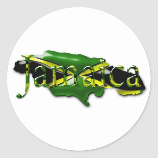 Carte d'autocollant de la Jamaïque