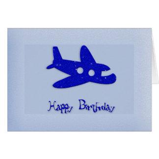 Carte d'avion de joyeux anniversaire