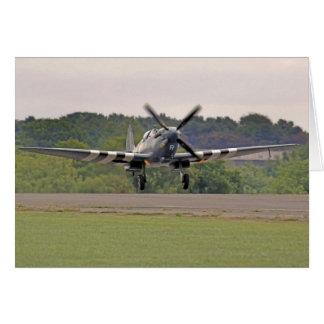 Carte d'avion de Spitfire de 2ÈME GUERRE MONDIALE