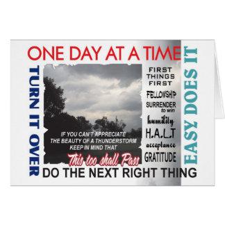 carte de 12 d'étape slogans de récupération