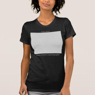 Carte de %18 gris pour le photographe t-shirt
