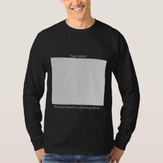 Carte de %18 gris pour les amis du photographe t-shirt