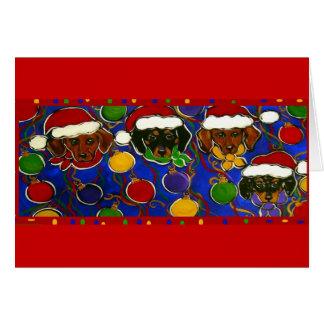 Carte de 4 Doxies de Noël