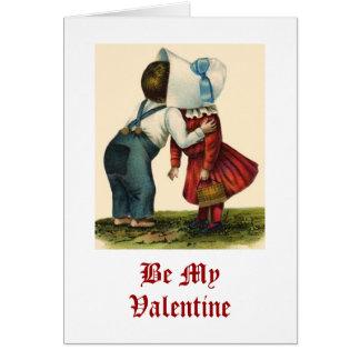 Carte de baiser de Saint-Valentin vintage