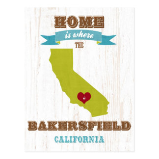 Carte de Bakersfield, la Californie - à la maison