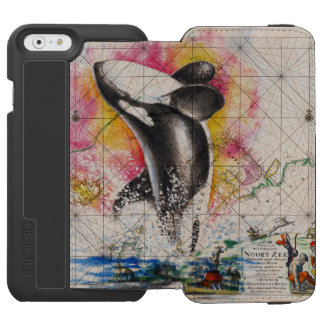 carte de baleine d'orque coque-portefeuille iPhone 6 incipio watson™