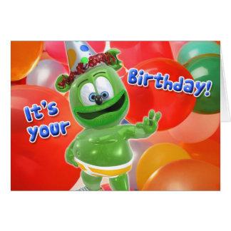 Carte de ballon d'anniversaire de Gummibär