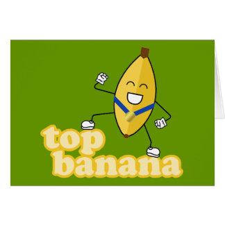 Carte de banane supérieure