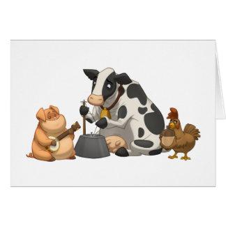Carte de bande de cruche d'animal de ferme (blanc