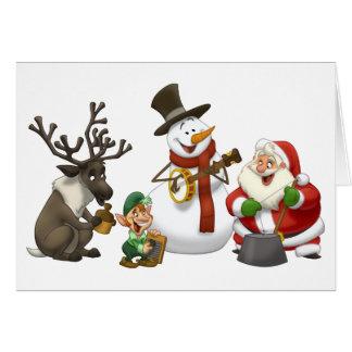 Carte de bande de cruche de Noël blanc à l intéri